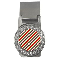 Christmas Color Stripes Money Clips (cz)  by Celenk