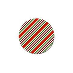 Christmas Color Stripes Golf Ball Marker by Celenk