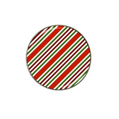 Christmas Color Stripes Hat Clip Ball Marker by Celenk