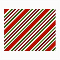 Christmas Color Stripes Small Glasses Cloth (2 Side) by Celenk