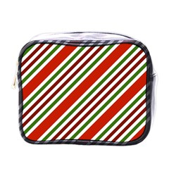 Christmas Color Stripes Mini Toiletries Bags by Celenk