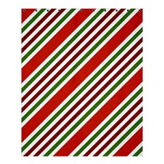 Christmas Color Stripes Shower Curtain 60  X 72  (medium)  by Celenk