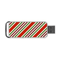 Christmas Color Stripes Portable Usb Flash (two Sides) by Celenk