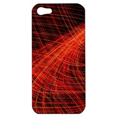 A Christmas Light Painting Apple Iphone 5 Hardshell Case by Celenk