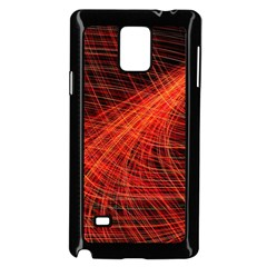 A Christmas Light Painting Samsung Galaxy Note 4 Case (black) by Celenk