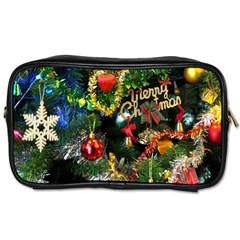 Decoration Christmas Celebration Gold Toiletries Bags 2 Side by Celenk