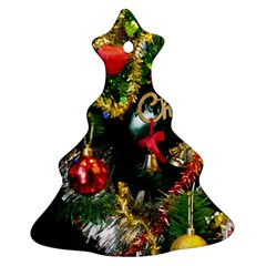 Decoration Christmas Celebration Gold Christmas Tree Ornament (two Sides) by Celenk