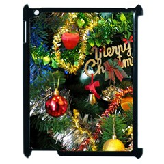 Decoration Christmas Celebration Gold Apple Ipad 2 Case (black) by Celenk