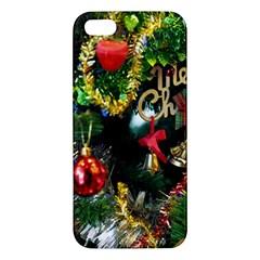 Decoration Christmas Celebration Gold Apple Iphone 5 Premium Hardshell Case by Celenk