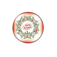 Merry Christmas Wreath Hat Clip Ball Marker (4 Pack) by Celenk
