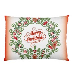Merry Christmas Wreath Pillow Case by Celenk