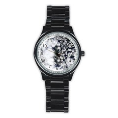 Earth Right Now Stainless Steel Round Watch by Celenk