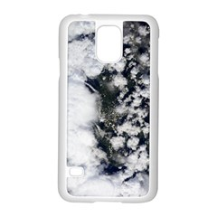 Earth Right Now Samsung Galaxy S5 Case (white) by Celenk