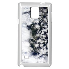 Earth Right Now Samsung Galaxy Note 4 Case (white) by Celenk