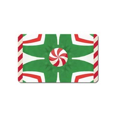 Candy Cane Kaleidoscope Magnet (name Card) by Celenk