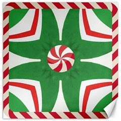 Candy Cane Kaleidoscope Canvas 12  X 12   by Celenk