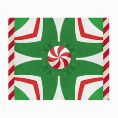 Candy Cane Kaleidoscope Small Glasses Cloth (2 Side) by Celenk
