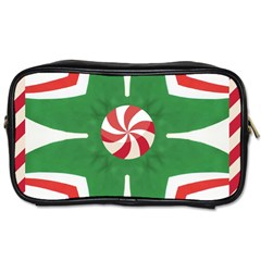 Candy Cane Kaleidoscope Toiletries Bags by Celenk
