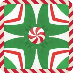 Candy Cane Kaleidoscope Magic Photo Cubes by Celenk