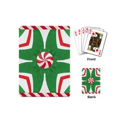 Candy Cane Kaleidoscope Playing Cards (mini)  by Celenk