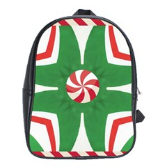 Candy Cane Kaleidoscope School Bag (xl) by Celenk