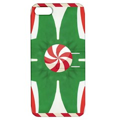 Candy Cane Kaleidoscope Apple Iphone 5 Hardshell Case With Stand by Celenk