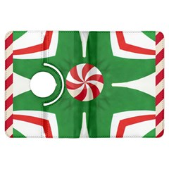 Candy Cane Kaleidoscope Kindle Fire Hdx Flip 360 Case by Celenk