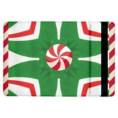Candy Cane Kaleidoscope Ipad Air Flip by Celenk