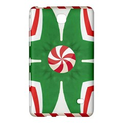 Candy Cane Kaleidoscope Samsung Galaxy Tab 4 (8 ) Hardshell Case  by Celenk