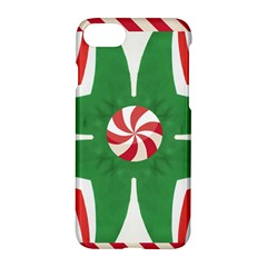 Candy Cane Kaleidoscope Apple Iphone 7 Hardshell Case by Celenk