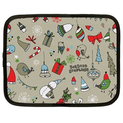 Beautiful Design Christmas Seamless Pattern Netbook Case (large) by Celenk