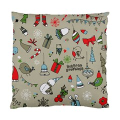 Beautiful Design Christmas Seamless Pattern Standard Cushion Case (one Side) by Celenk