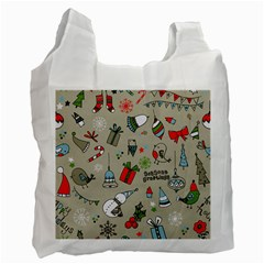 Beautiful Design Christmas Seamless Pattern Recycle Bag (two Side)  by Celenk
