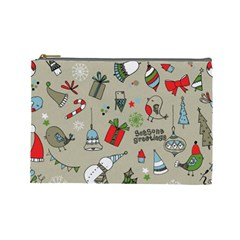 Beautiful Design Christmas Seamless Pattern Cosmetic Bag (large)  by Celenk