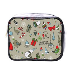 Beautiful Design Christmas Seamless Pattern Mini Toiletries Bags by Celenk