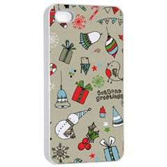 Beautiful Design Christmas Seamless Pattern Apple Iphone 4/4s Seamless Case (white) by Celenk