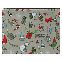 Beautiful Design Christmas Seamless Pattern Cosmetic Bag (xxxl)  by Celenk