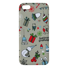 Beautiful Design Christmas Seamless Pattern Apple Iphone 5 Premium Hardshell Case by Celenk