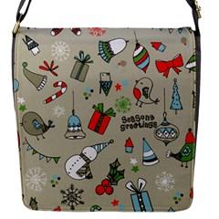 Beautiful Design Christmas Seamless Pattern Flap Messenger Bag (s) by Celenk