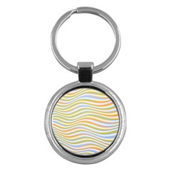Art Abstract Colorful Colors Key Chains (round)  by Celenk