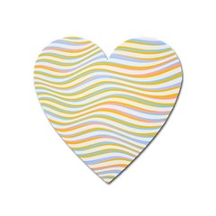 Art Abstract Colorful Colors Heart Magnet by Celenk