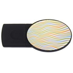 Art Abstract Colorful Colors Usb Flash Drive Oval (4 Gb) by Celenk
