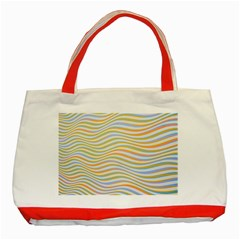 Art Abstract Colorful Colors Classic Tote Bag (red) by Celenk