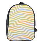 Art Abstract Colorful Colors School Bag (XL) Front