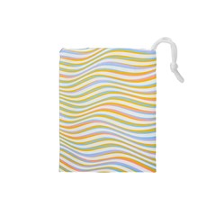 Art Abstract Colorful Colors Drawstring Pouches (small)  by Celenk