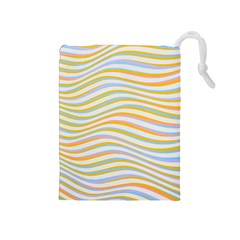 Art Abstract Colorful Colors Drawstring Pouches (medium)  by Celenk