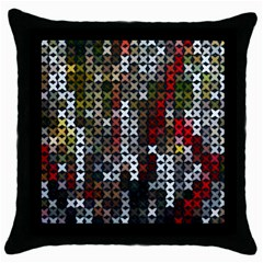 Christmas Cross Stitch Background Throw Pillow Case (black) by Celenk