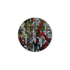 Christmas Cross Stitch Background Golf Ball Marker (10 Pack) by Celenk