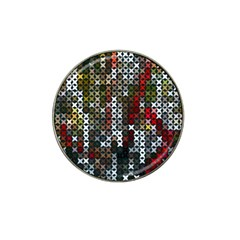 Christmas Cross Stitch Background Hat Clip Ball Marker (4 Pack) by Celenk