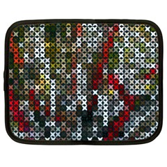 Christmas Cross Stitch Background Netbook Case (xl)  by Celenk
